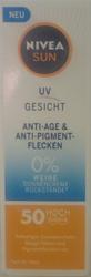 Nivea Sun Gesichtssonnencreme Anti Age LSF 50 krem ochronny przeciw plamom pigmentacyjnym