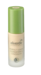 alverde Naturkosmetik Perfect Cover Foundation & Concealer 05 Porcelain,podkład do twarzy porcelana