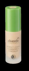 alverde Naturkosmetik Perfect Cover Foundation & Concealer 20 Almond podkład do twarzy migdał