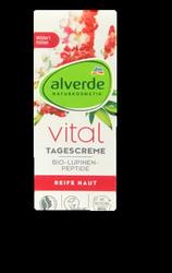 alverde Tagescreme Vital Lupinen-Peptide krem na dzień cera dojrzała łubin, peptydy