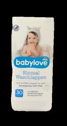 babylove Einmal-Waschlappen jednorazowa myjka do kąpieli 30 szt.