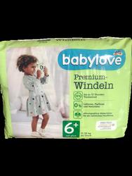 babylove Windeln Premium aktiv plus Größe 6+ XXLplus 17-32kg 30 szt. pieluchy jednorazowe