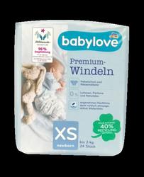 babylove Windeln Premium extra weich Größe XS, newborn bis 3kg, 24 St. pieluchy dla noworodków do 3 kg