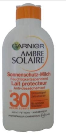 Garnier Ambre Solaire Sonnenschutz-Milch Hoch LSFf 30 mleczko ochronne filtr 30