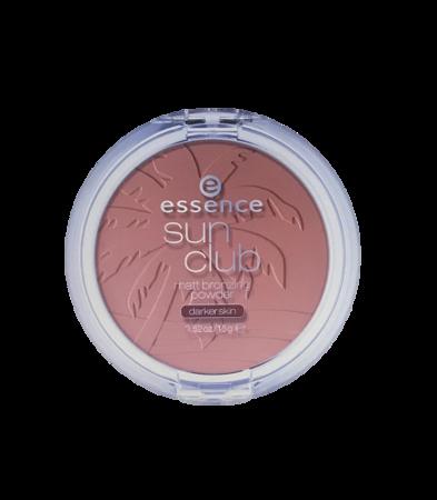 essence Sun Club Matt Bronzing Powder brązujący puder matujący darker skin cera ciemna nr 02