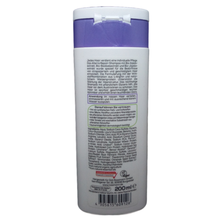 Alterra Repair-Shampoo Bio-Kakao & Bio-Baobab szampon odbudowujący bio baoba, bio kakao