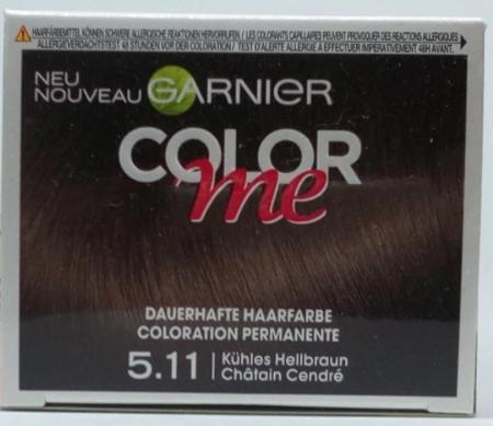 Garnier Color me Kühles Hellbraun Dauerhafte Haarfarbe 5.11 farba do włosów chłodny jasny brąz