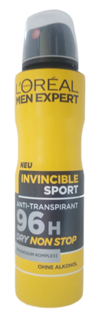 Loreal Men Expert Sport 96H Dry Nonstop antyperspirant spray