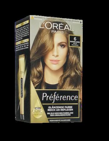 Loreal Preferance Infinia Haarfarbe Buenos Aires 6 farba do włosów naturalny jasny brąz nr 6