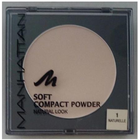 Manhattan Cosmetics Gesichtspuder Soft Compact Powder Naturelle 01 puder delikatny naturalny 01