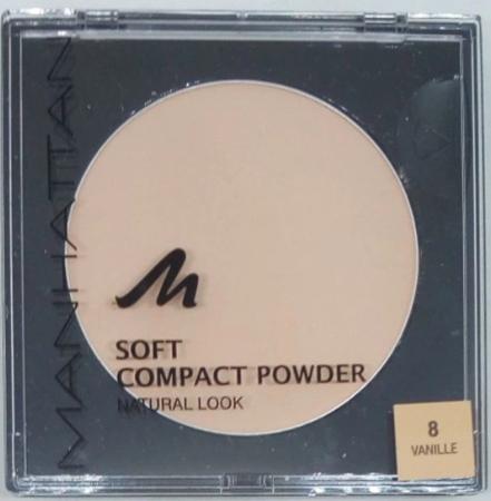 Manhattan Cosmetics Gesichtspuder Soft Compact Powder Vanilla 08 puder wanila nr 08
