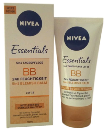 Nivea Essentials 5in1 Getönte Tagescreme BB Mittel/Dunkel krem tonujący 5w1 cera średnia, ciemna