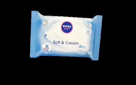 Nivea Soft Feuchttücher Baby Soft & Cream chusteczki nawilżające 63 szt.
