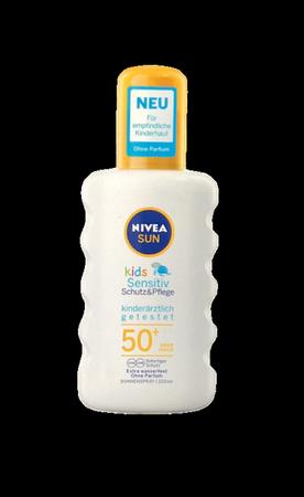 Nivea Sun Kids Spray Sensitive LSF 50+ spray ochronny dla dzieci skóra wrażliwa