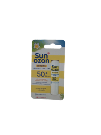 Sunozon sensitiv Lippenpflege Stift LSF 50+ pomadka ochronna do ust skóra wrażliwa fiiltr 50+ bardzo wysoka ochrona przeciwsłoneczna