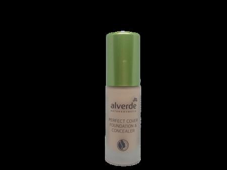 alverde Naturkosmetik Perfect Cover Foundation & Concealer Vanilla 10 podkład do twarzy wanilia nr 10