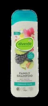 alverde Naturkosmetik Shampoo Family szampon rodzinny włosy normalne malwa